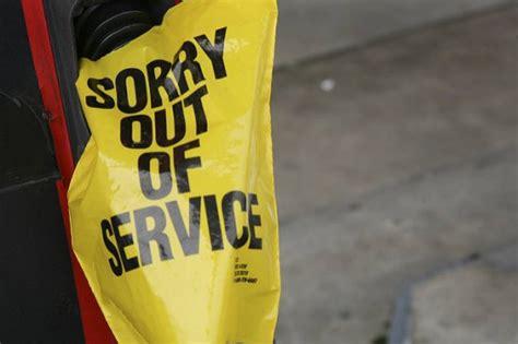 gas pumps empty tips   hit  fuel shortage