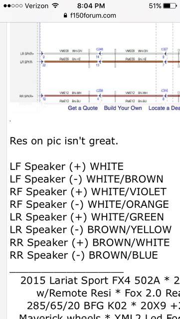 Ford Speaker Wiring Diagram Forum