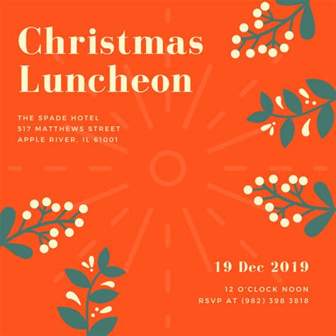 employee holiday luncheon invitation template customize 113 luncheon invitation templates canva