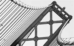 black and white bridges San Francisco free desktop ...
