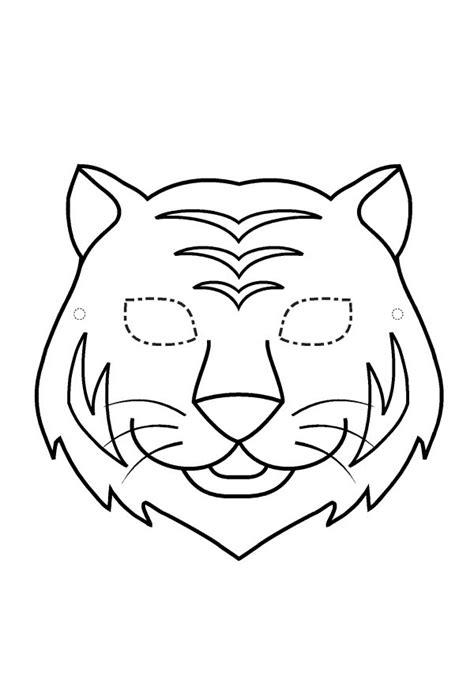 masque a colorier et a imprimer gratuit masque de tigre 224 imprimer gratuit