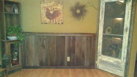 year  barn wood chair rail  kitchen love