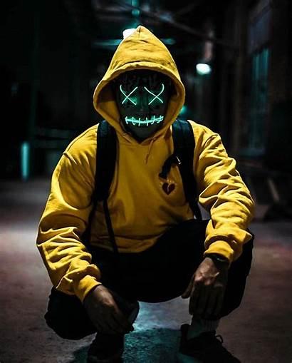 Purge Mask Dope Character Screen Led Halloween