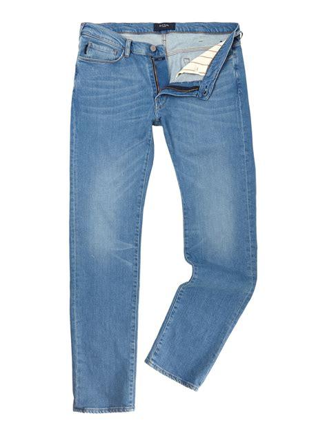 light blue jeans mens slim fit paul smith slim fit light wash denim jeans in blue for men