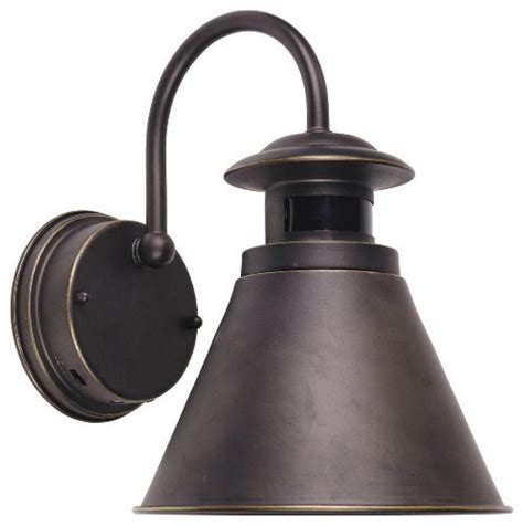 outdoor wall lantern with motion sensor rubbed bronze