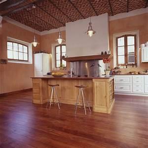 parquet salon cuisine cuisine amenage blanc avec parquet With parquet salon cuisine