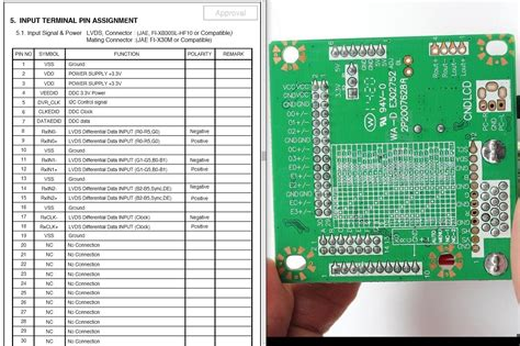 Lcd Lvds Pin Cable Confusion Electrical Engineering