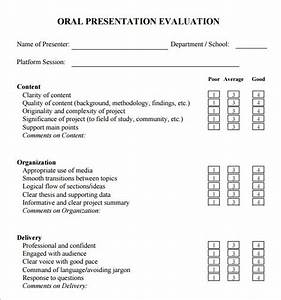 presentation evaluation 7 free download for pdf With presenter evaluation form template