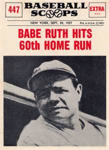 "Image result for ""Babe"" Ruth hit his 60th homerun"
