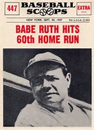 """Image result for """"Babe"""" Ruth hit his 60th homerun"""