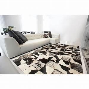 tapis en cuir starless patchwork vache angelo 140x200 With tapis peau de vache avec coussin ameublement canape