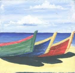 Simple Beach Painting On Canvas