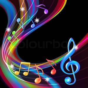 Bunte abstrakte Hintergrund Musik Noten   Stock-Vektor ...