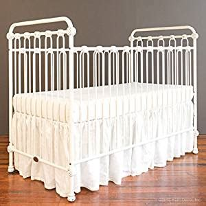 Bratt Decor Crib Satin White by Bratt Decor Baby Crib Distressed White Baby