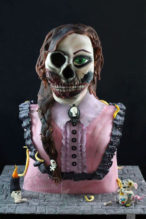 sculpted cake creepy cake scary cake victorian girl