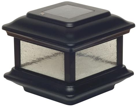 colonial black outdoor 4x4 solar powered led post cap