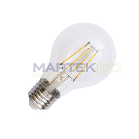 a19 led light bulb filament style clear 4 watt