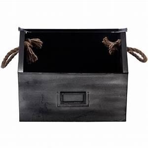Casier De Rangement Métal : casier de rangement m tal 23cm noir ~ Dode.kayakingforconservation.com Idées de Décoration
