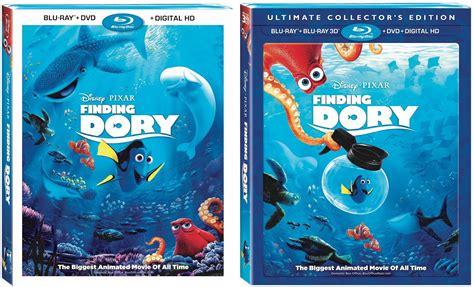'finding Dory' Blu-ray (nov 15), Digital Hd (oct 25