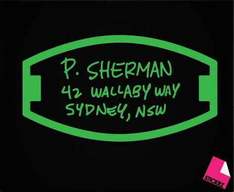 p sherman  wallaby  sydney nsw finding nemo decal