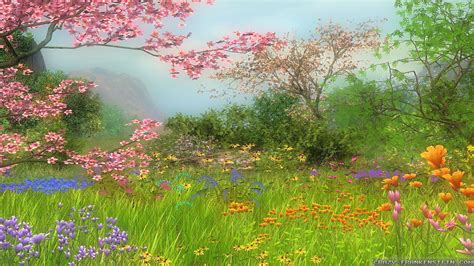 Spring Scene Wallpaper Wallpapersafari