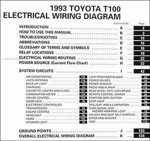 1996 Toyota T10truck Wiring Diagram Original