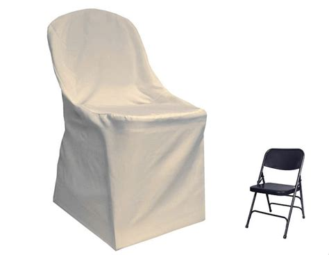 10 ivory polyester folding flat chair cover wedding