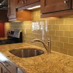 Subway Tile Ideas For Kitchen Backsplash Backsplash Picture Ideas Supreme Glass Tiles 3 X 6 Subway Tile Color Khaki