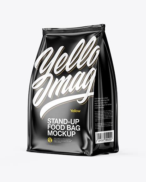 Glossy foil chip bag front psd mockup. Glossy Food Bag Mockup - Half Side View | App Mockups ...