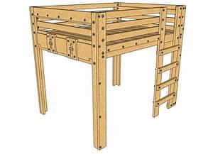 Queen, Loft, Bed, Plans