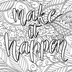 Inspirational Quote Coloring Pages Adult