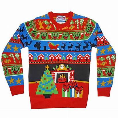 Jumper Christmas Knitted Night Before Unisex Xmas