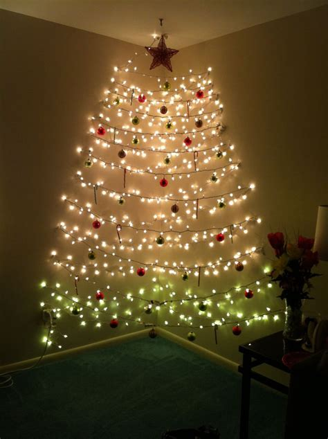 fancy christmas tree on a wall with lights 73 in wall mounted light fittings with christmas tree