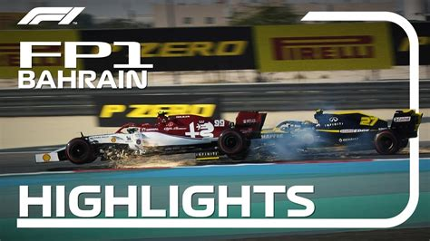 2019 Bahrain Grand Prix: FP1 Highlights - YouTube
