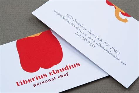 creative chef business card examples mow design