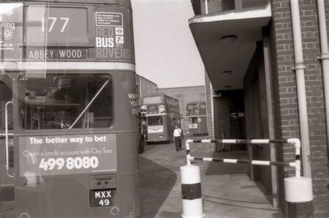 abbey wood garage  view   bus stand  abbey wood