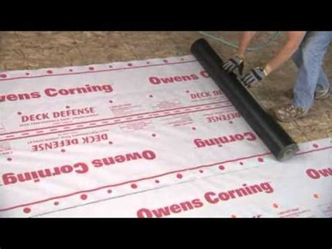 owens corning roofing video deck defense high
