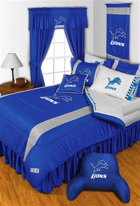 nfl detroit lions bedding  room decorations