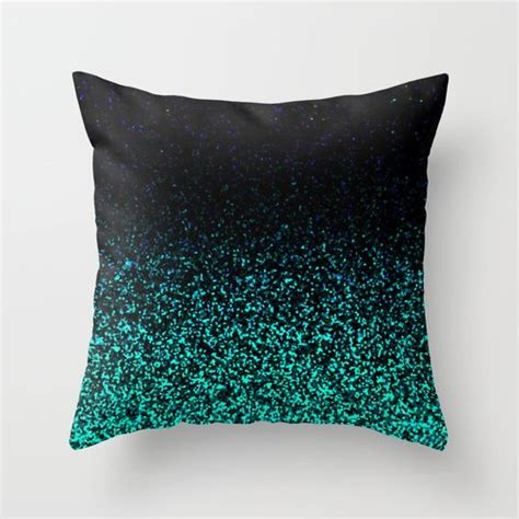 Sparkly Pillows by Sparkly Pillows Mint Sparkle Throw Pillow By M Studio