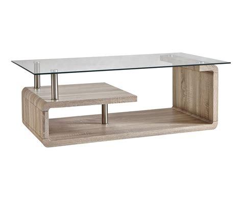 table basse verre bois table basse bois et verre naturel et transparent l120