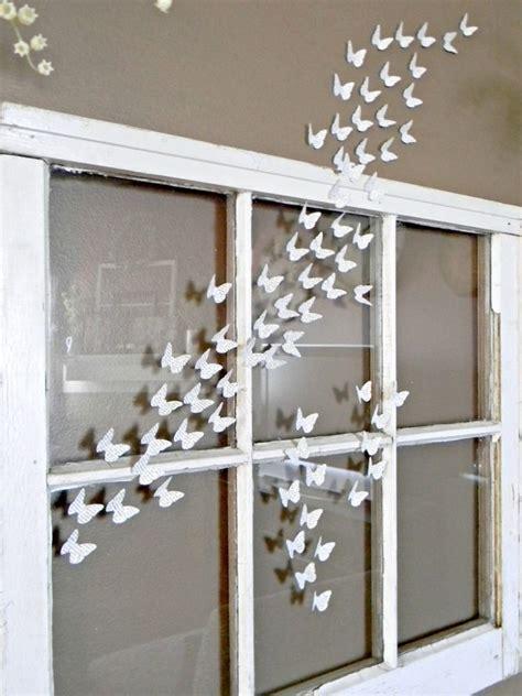 Fensterdeko Weihnachten Kinderkrippe by Mit Vielen Kleinen Wei 223 E Schmetterlingen Das Fenster