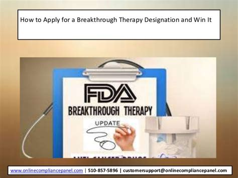 breakthrough therapy designation how to apply for a breakthrough therapy designation and win it
