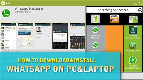 how to install whatsapp on pc laptop free