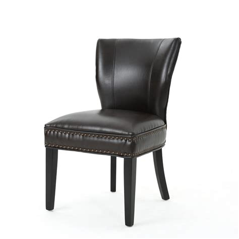 noble house jackie brown leather accent dining chair set