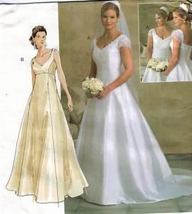 vogue pattern 2788 wedding gown bridesmaid train empire With wedding dresses patterns