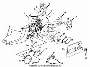 Homelite Ry74007d 45cc - 18 In  Chain Saw Parts Diagram For Clutch - Chain Brake