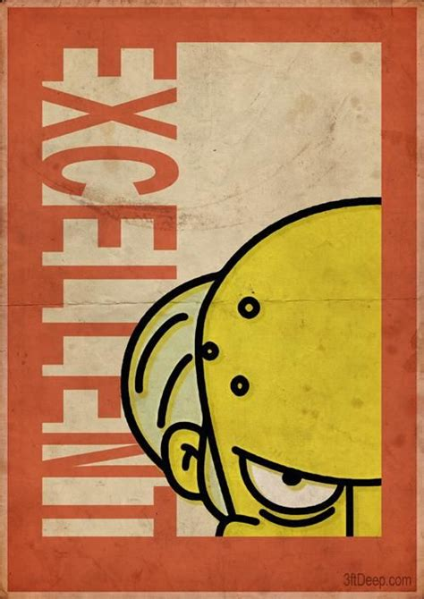 Mr Burns Simpsons - Vintage poster- 3ftdeep by 3ftDeep on ...