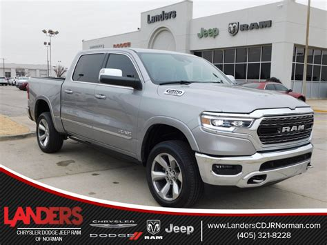 new 2019 ram all new 1500 limited crew cab in norman kn506651 landers chrysler dodge jeep ram