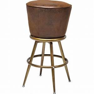Tabouret De Bar Retro : tabouret de bar vintage marron lady rock kare design ~ Teatrodelosmanantiales.com Idées de Décoration