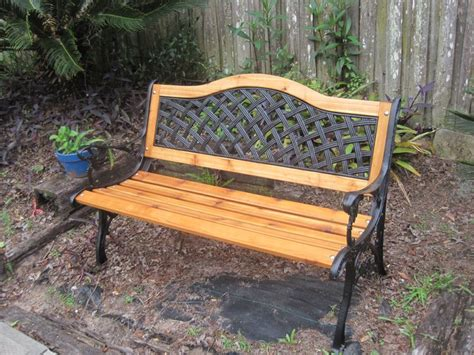 cast iron bench   refurbished  installed